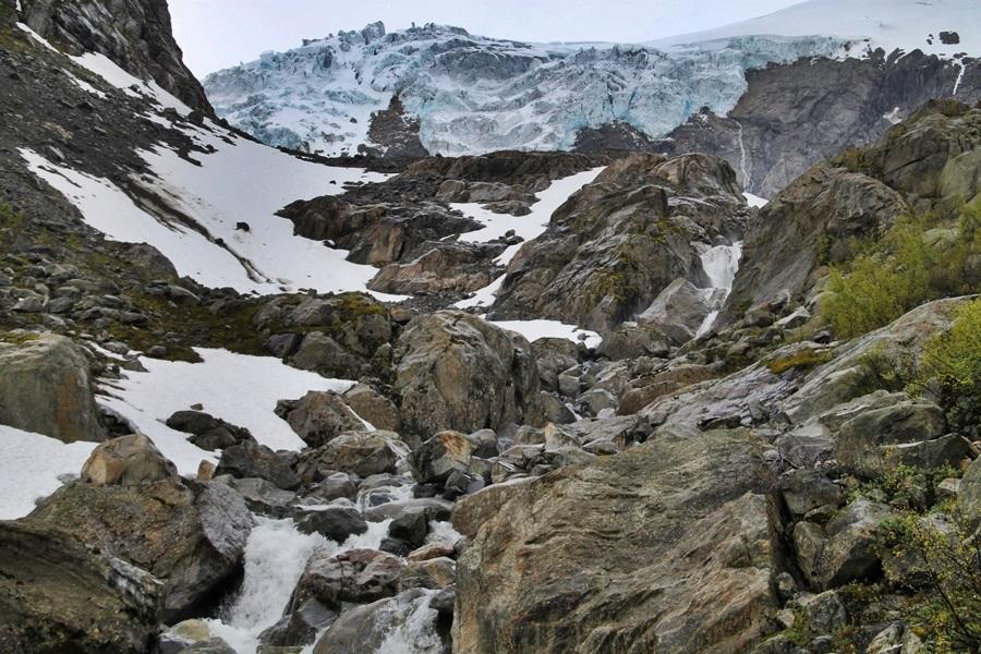 lodowiec w dolinie Bourdalen
