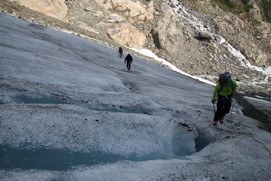 marsz po lodowcu