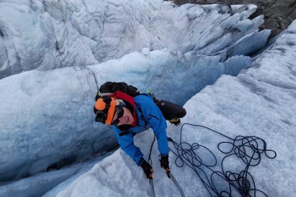 na lodowcu Folgefonna