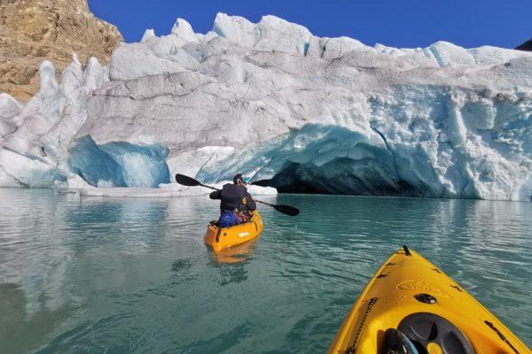 kajakiem na lodowiec Folgefonna