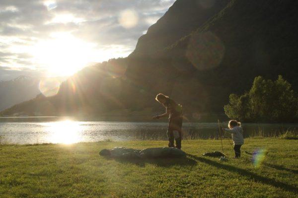 kolejny biwak w Norwegii - Stryn